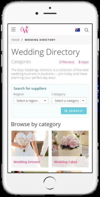 EasyWeddings.com.au Website Design and Maintenance