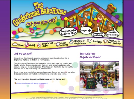 Gingerbread Bakehouse Website Design