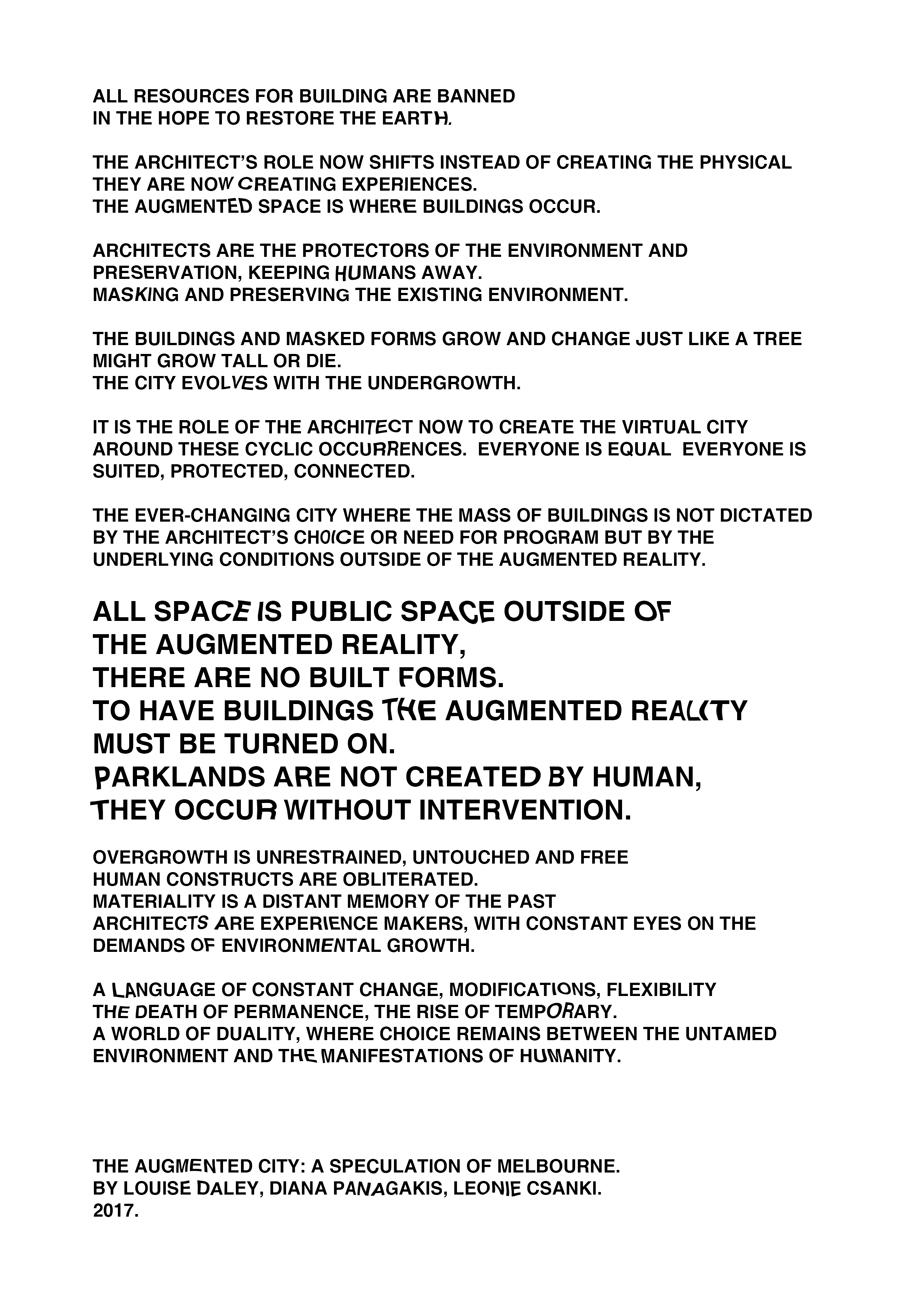 Augmented City Manifesto. Louise Daley, Diana Panagakis and Leonie Csanki. 2017.